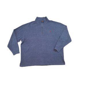 Polo Ralph Lauren Blue Quarter Zip Sweatshirt 2XL